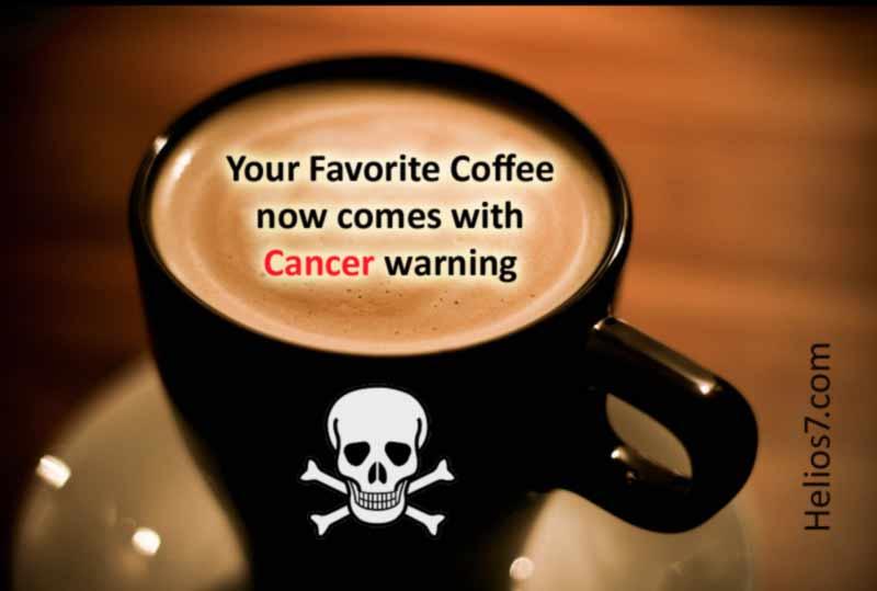 coffee cancer warning california