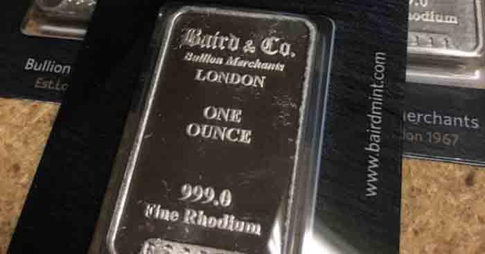 rhodium precious metal