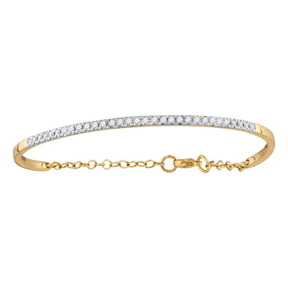 Diamond Promise Bangle Bracelet 1/2 Cttw 10kt Yellow Gold