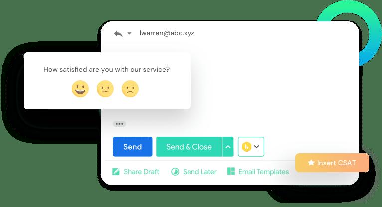 Hiver Gmail Helpdesk CSAT Hero