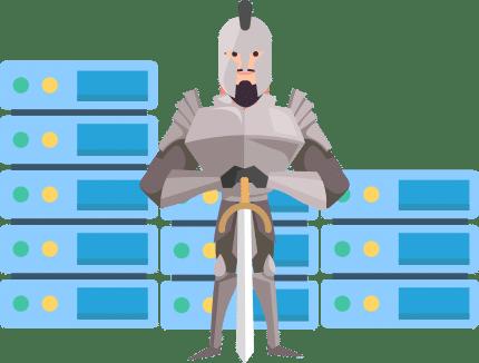 Hiver Security Hero Illustration