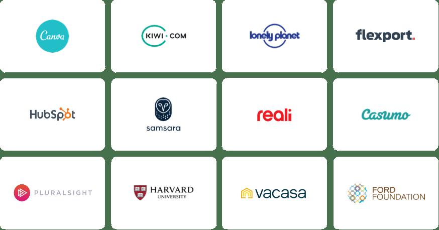 Hiver Signup page customer logos