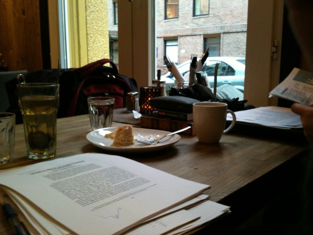 Working from coffee shops