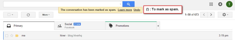 Mark as spam