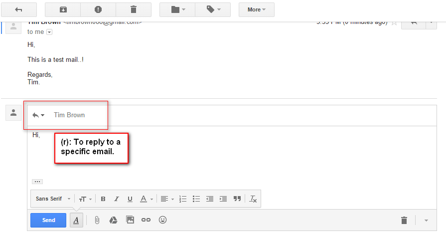 Reply to a specific email