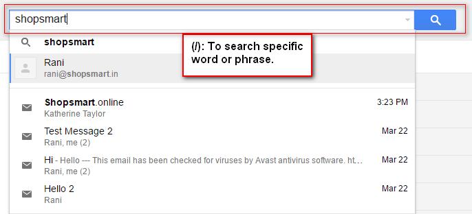 Search Specific phrase