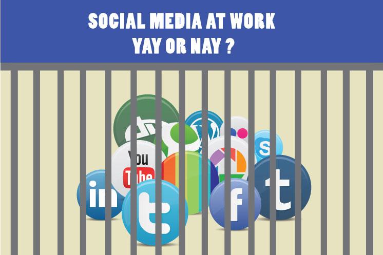 Block social media at work