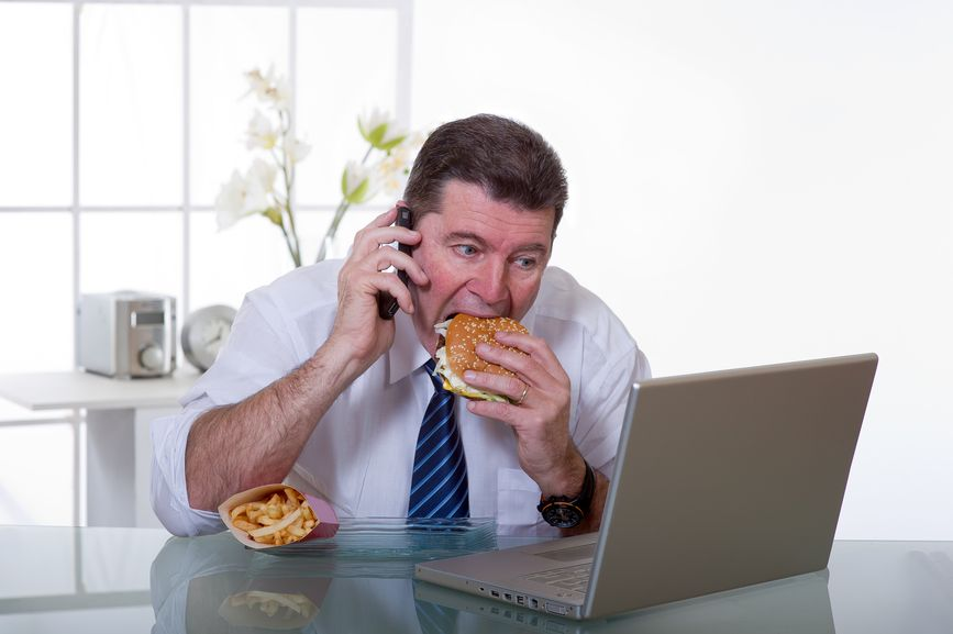 Avoid junk food at work