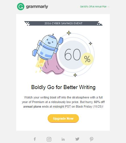 Grammarly holiday savings offer