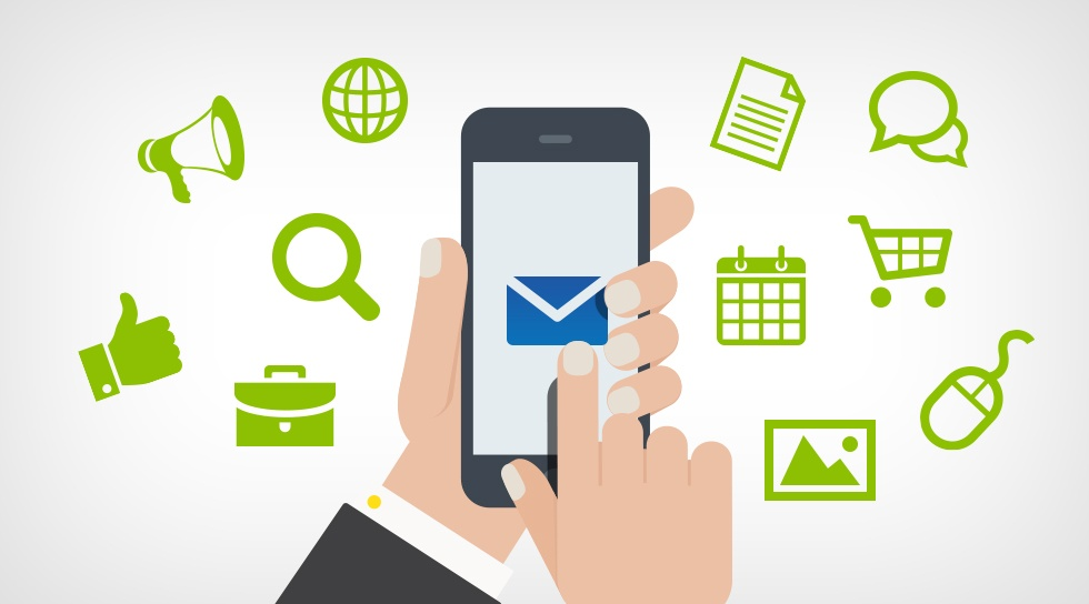 Mobile email open rate - 55%