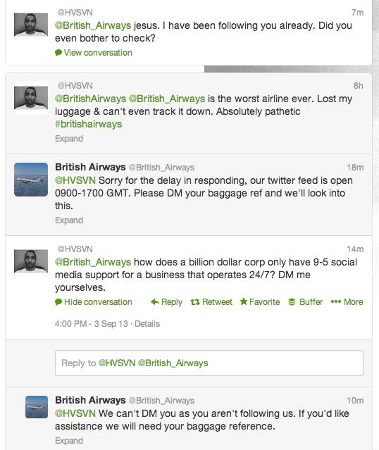 British Airways angry customer Twitter thread