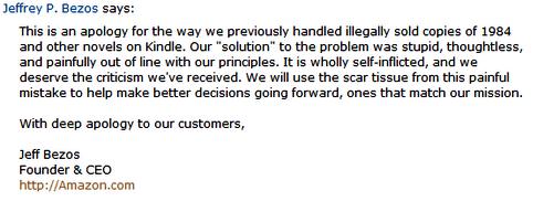 Jeff Bezos' apology
