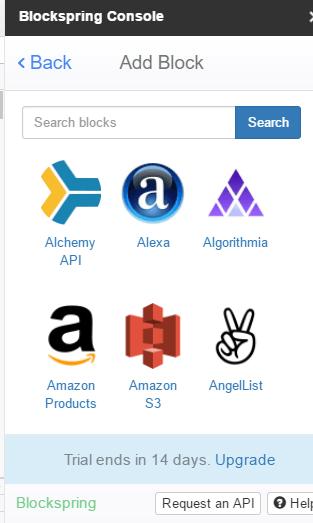 Google Sheets add-ons blockspring