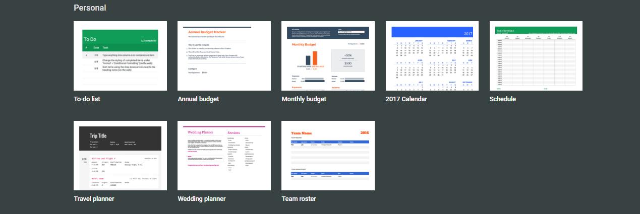 Google-Sheets-templates