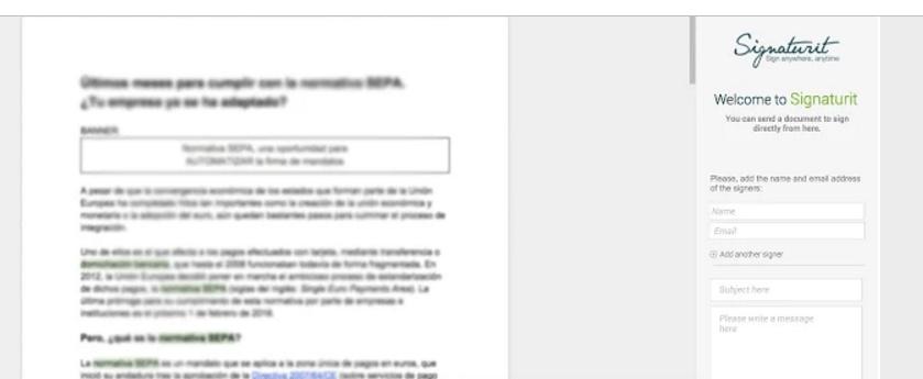 Google docs add-ons Signaturit