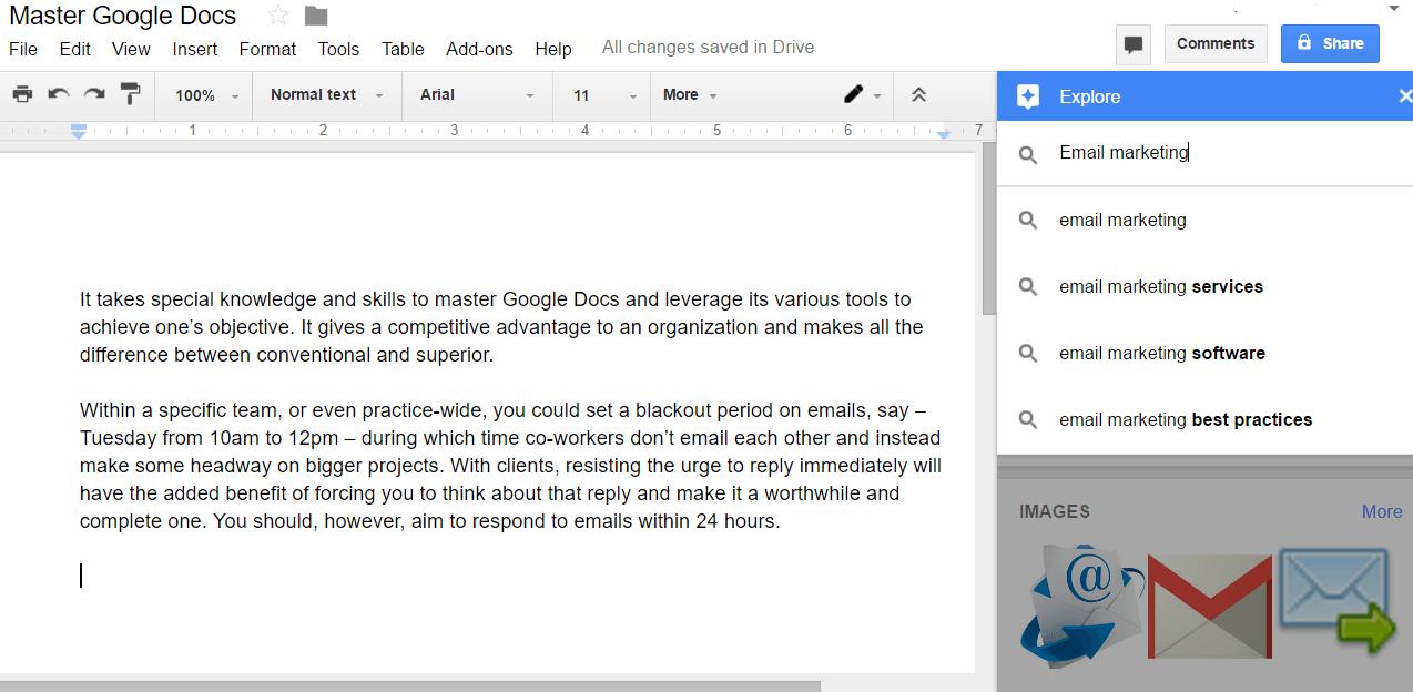 Google docs explore