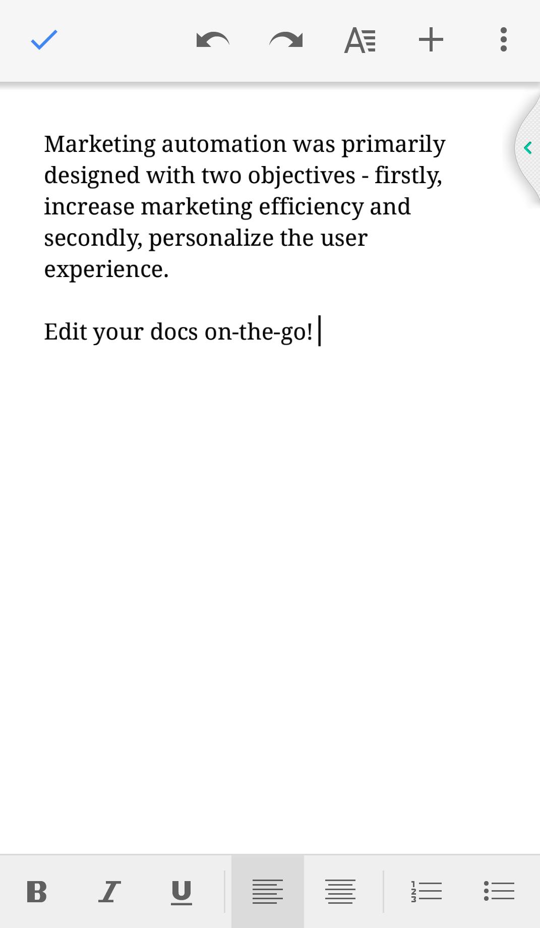 Google docs mobile app 2