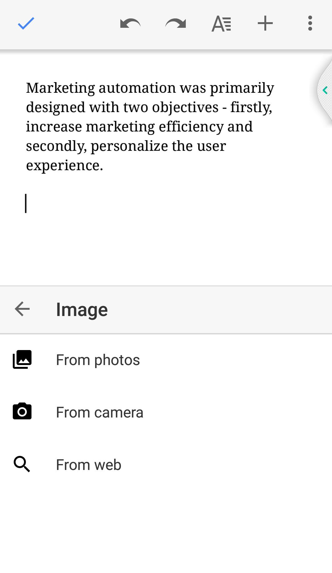 Google docs mobile app 3