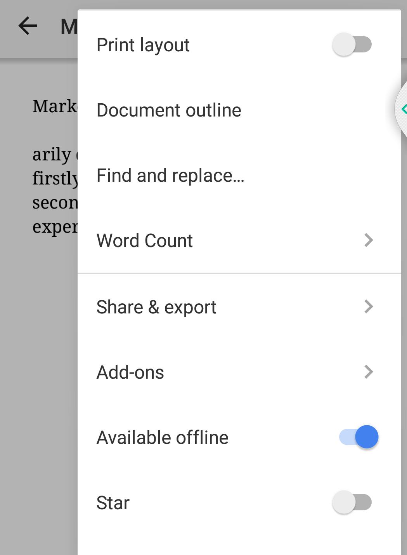Google docs mobile app 6