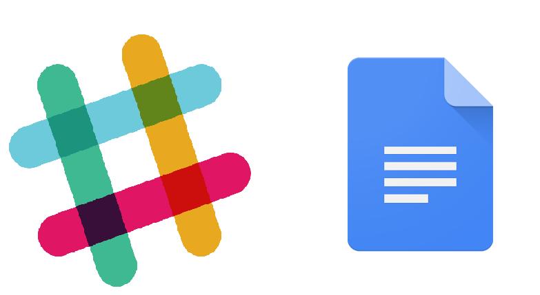 Google docs slack