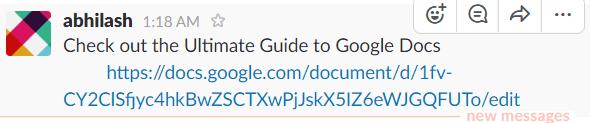 Google docs slack 2