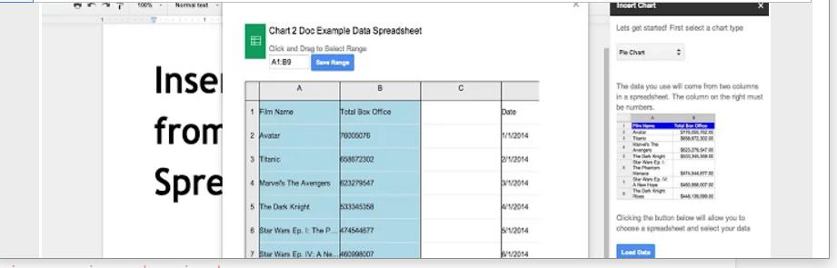 Google docs spreadsheet chart