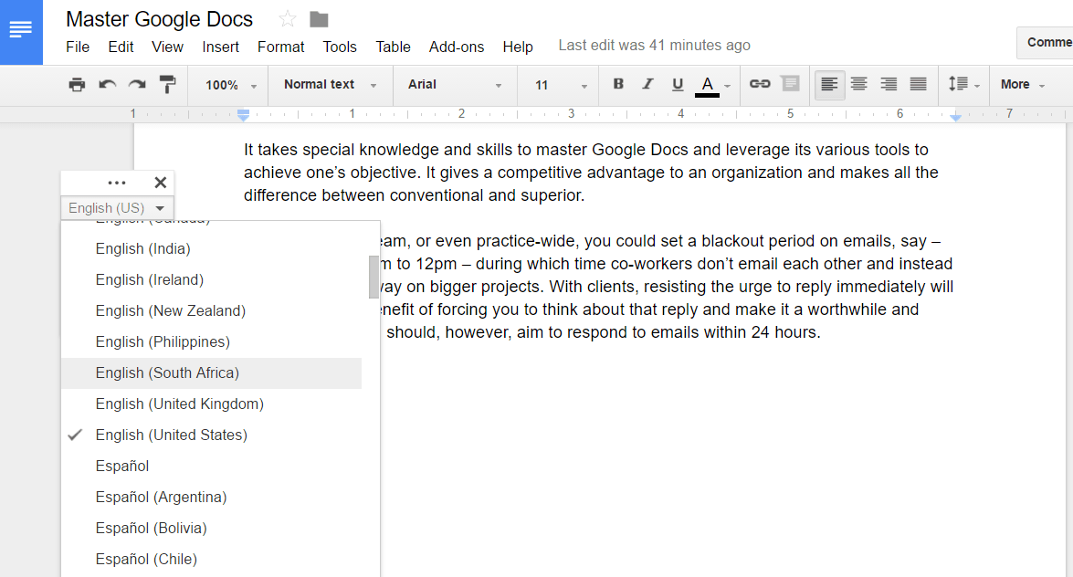 Google docs voice typing 2