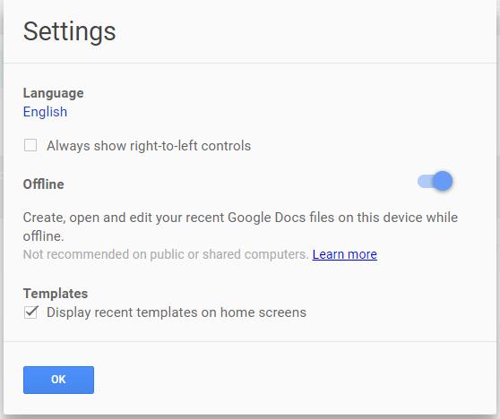 Google sheets offline 2