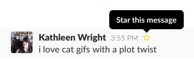 Slack starred messages