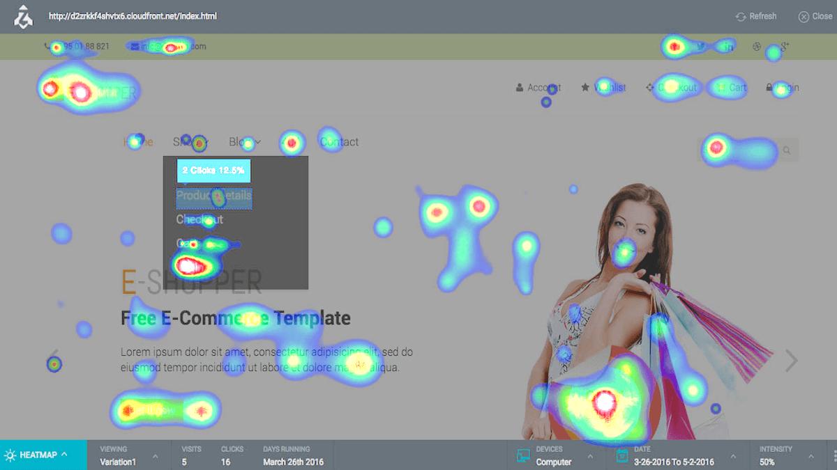 customer feedback heatmap