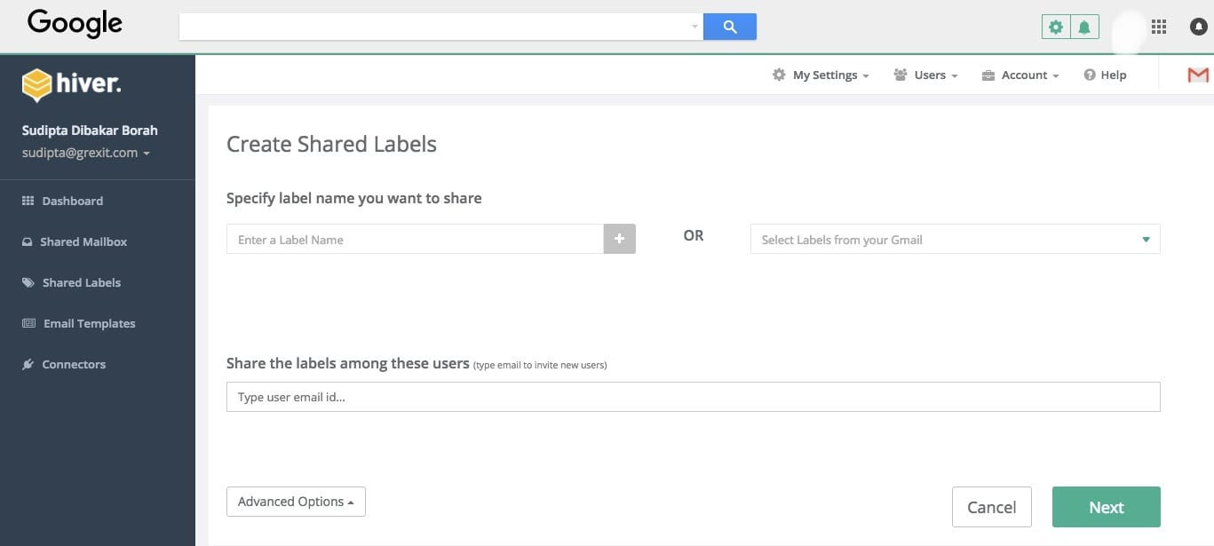 Customer Onboarding - Hiver Shared Labels