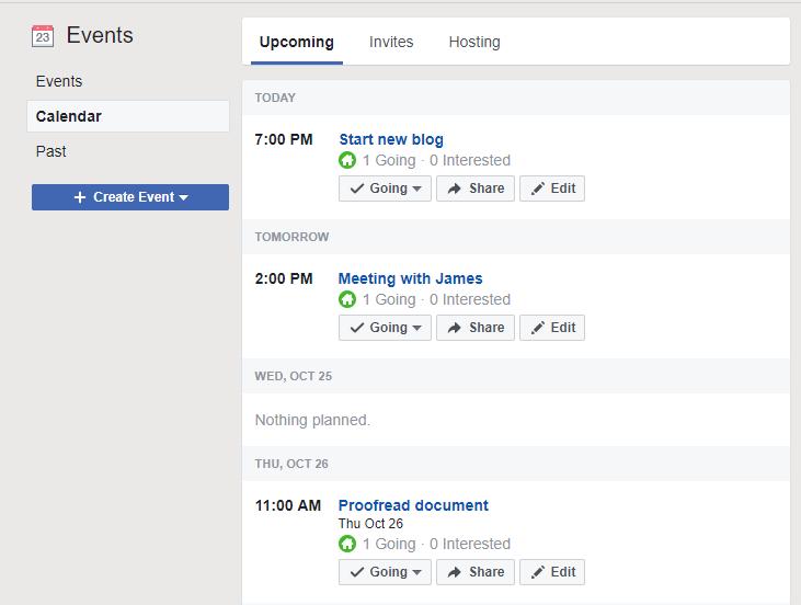 Facebook Workplace event