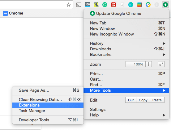how to delete a chrome extension