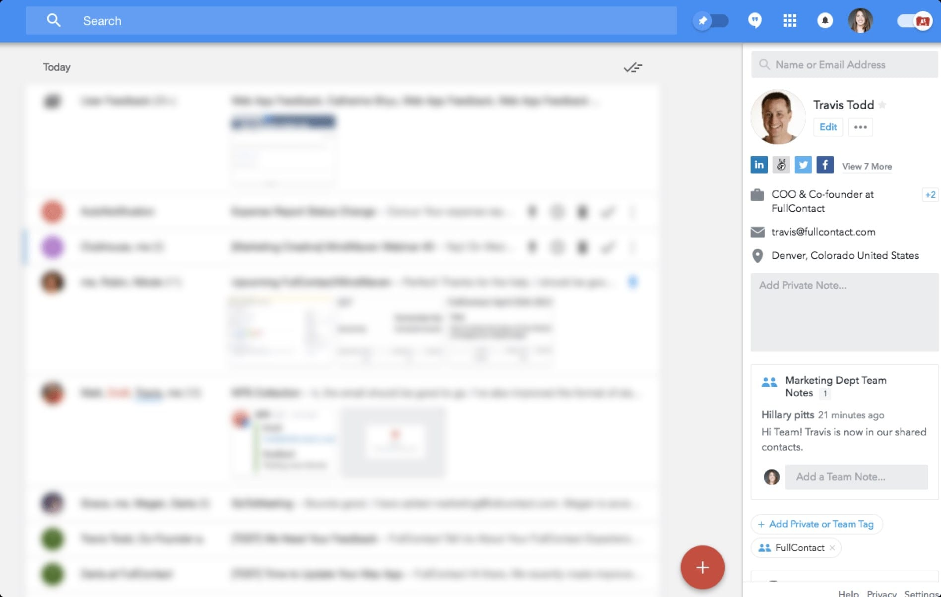 fullcontact chrome extension