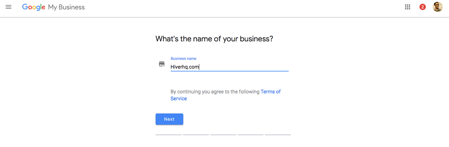 Google My business - log in