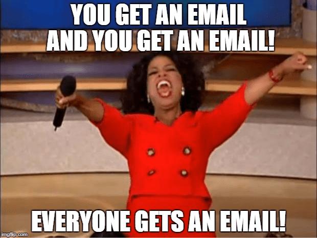 shared inbox email management oprah meme