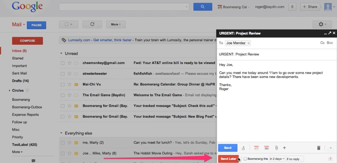 Boomerang - Chrome extensions for managing emails