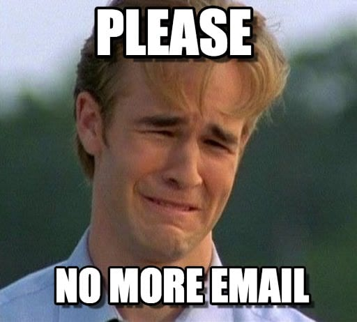 no more email