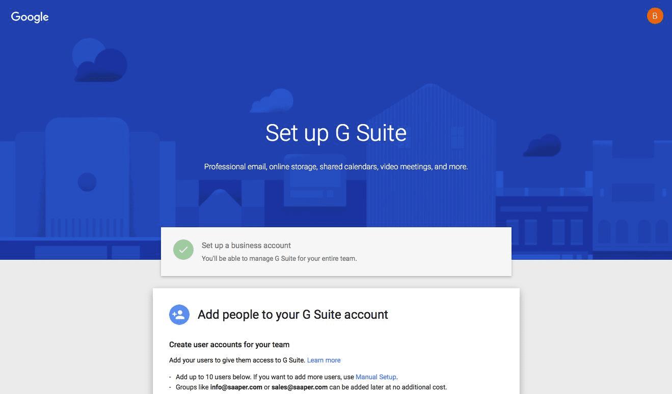 set up g suite homepage