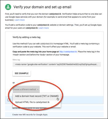 verify g suite domain