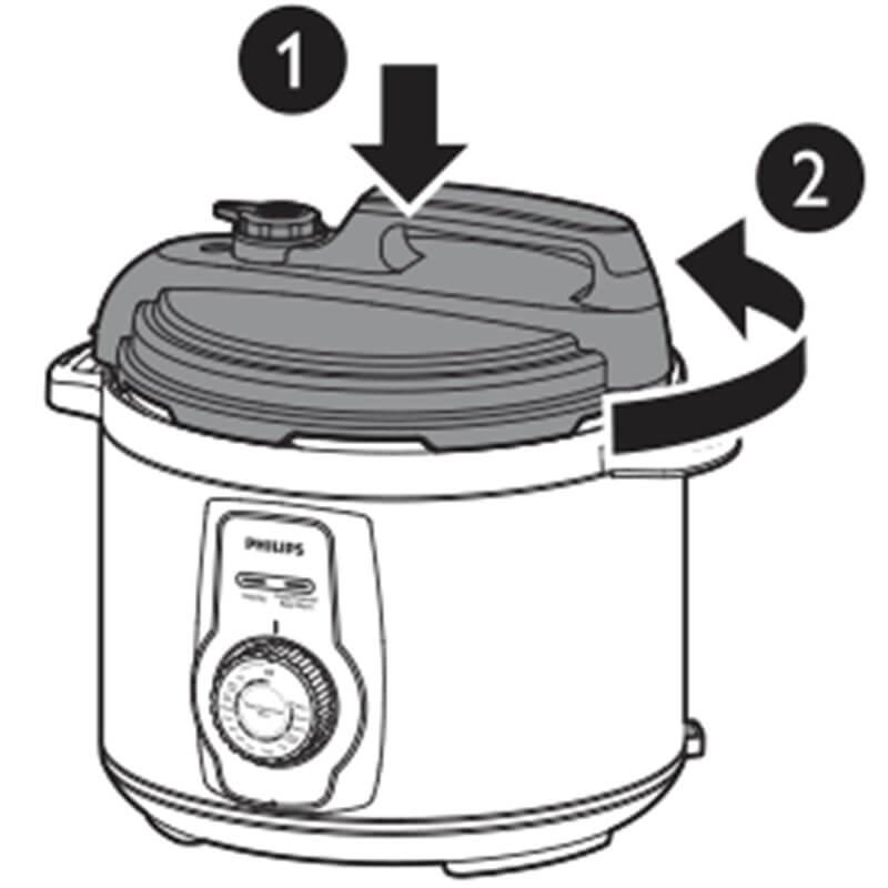 Cách sử dụng nồi áp suất điện Philips HD2103 5