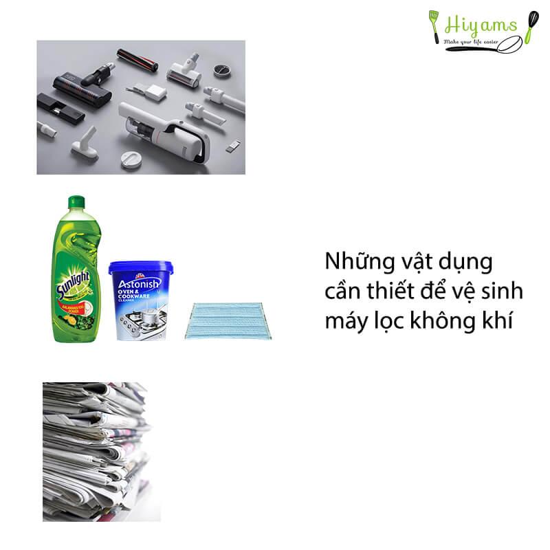 Những vật dụng cần thiết để vệ sinh máy lọc không khí