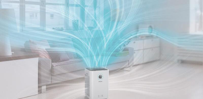 Luồng không khí sạch được đẩy ra tạo cảm giác mát