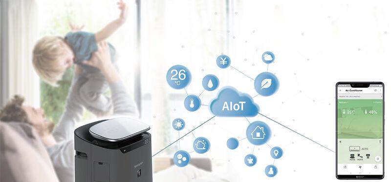 Máy lọc không khí có kết nối với điện thoại