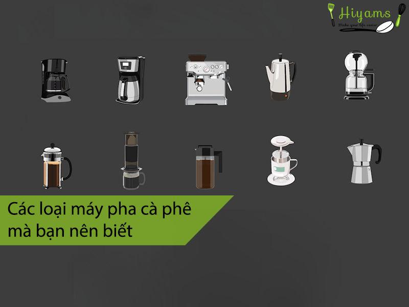 Các loại máy pha cà phê mà bạn nên biết 1