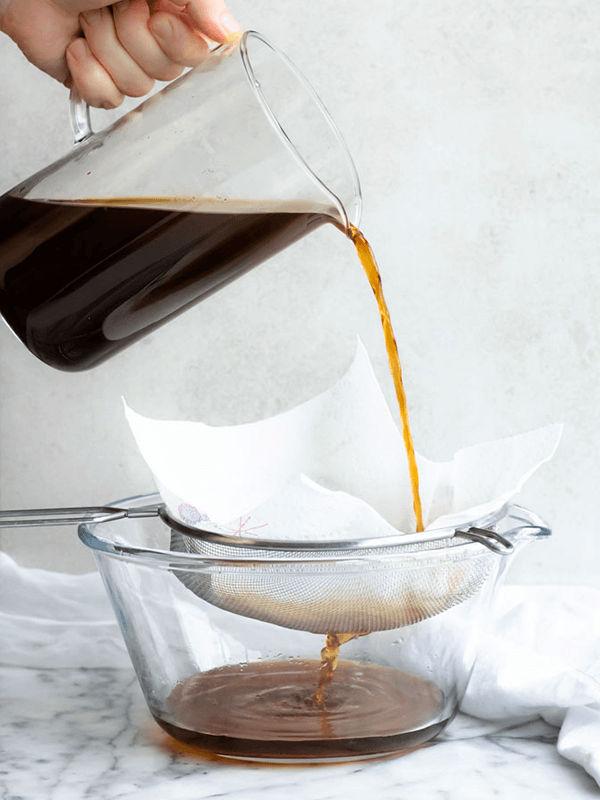 Lọc cafe qua rây