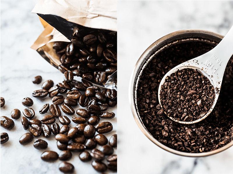 Xay hạt cafe với độ mịn vừa phải
