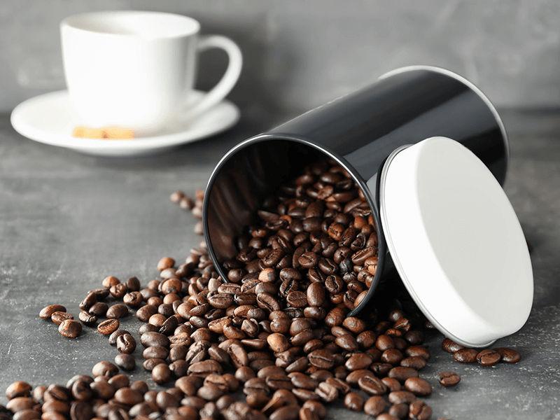 Bạn có thể sử dụng hộp kim loại để đựng cafe
