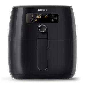 Thiết kế nồi chiên không dầu Philips HD9745 nhỏ gọn tông đen sang trọng