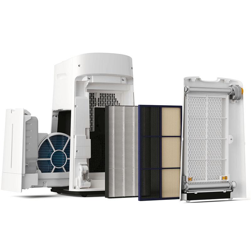 KI-L60V-W làm sạch không khí nhờ sự kết hợp thông minh